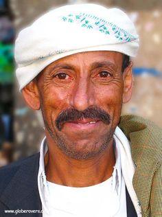 A man of the small village of Thula, YEMEN