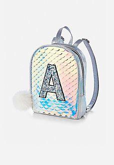 86a6804022 initial mermaid scale mini backpack Mini Backpack Purse