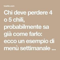 Chi deve perdere 4 o 5 chili, probabilmente sa già come farlo: ecco un esempio . - copertinaWho should lose 4 or 5 kilos, probably already knows how to do it: here is an example of a weekly menu for those who want to lose little weight, and want to Low Glycemic Diet, 1000 Calories, Best Detox, Healthy Menu, Ketosis Diet, Detox Plan, Cleanse Recipes, Mediterranean Diet, Food Lists