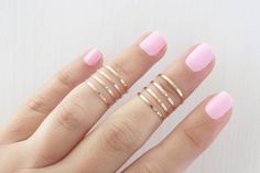 Gold ring - 8 Above the Knuckle Rings, Rose gold stacking ring, Knuckle Ring, Band ring, Midi ring, Handmade ring, Accessories,Birthday gift...