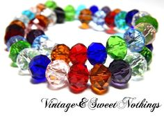 25 Crystal Quartz Faceted Rondelle Glass Beads -SS. Starting at $3 on Tophatter.com!