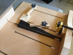 Cross-cut sled with clamped taper jig