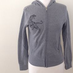 Grey Hoodie 80% cotton. 20% polyester. Only worn once! VERY WARM hoodie & lightweight. Onitsuka Tiger  Jackets & Coats