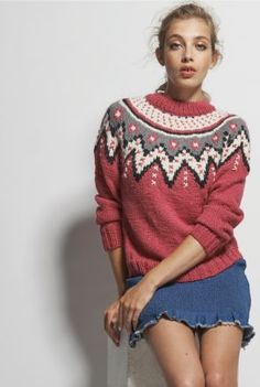 Grant Pull : Alpaga, Soie › Pull › Femme › Laines Bouton d'Or Pullover, Winter Outfits, Winter Clothes, Loom Knitting, Knit Patterns, Lana, Christmas Sweaters, Knitwear, Girl Fashion