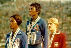 October 17, 1968, Wyomia Tyus became the first person to win a gold medal in the 100 meter race in two consecutive Olympic games in Mexico City (she ALSO won the gold at the 1964 Tokyo Olympics).