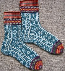 Contredanse Fair Isle Socks