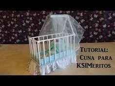 Tutorial Como Hacer Una Cuna de KSImeritos (DIY Doll Crib) - YouTube