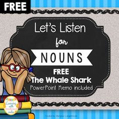 FREE Listening activity incorporating Nouns and Whale Shark facts.