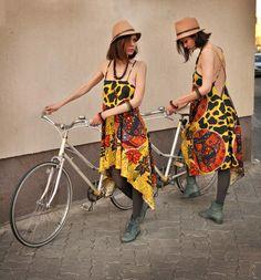 Make it double: dress by Damasquin Handmade Dresses, Bohemian, Lifestyle, My Style, How To Make, Fashion, Moda, La Mode, Fasion