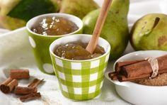 pear jam in the green jar Chutney, Pear Preserves, Pear Jam, Greek Sweets, Moscow Mule Mugs, Caramel Apples, Afternoon Tea, Sweet Recipes
