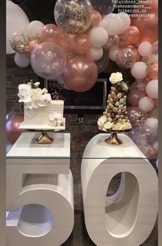 birthday present ideas for boyfriend 50th Birthday Balloons, 50th Birthday Decorations, Moms 50th Birthday, 50th Party, 30th Birthday Parties, Anniversary Parties, Balloon Decorations, Birthday Party Themes, Creations