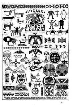 indianer cheyenne - indianische piktogramme und symbole - alle - Übersicht | ornamente
