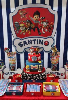 Violeta Glace 's Birthday / Paw Patrol - Photo Gallery at Catch My Party Puppy Birthday Parties, 1st Boy Birthday, Paw Patrol Birthday Decorations, Imprimibles Paw Patrol, Cumple Paw Patrol, Paw Patrol Party, Party Themes, Party Ideas, Tutti Frutti