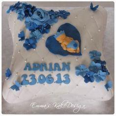 Emmas KakeDesign: Putekake til en liten Prins! Baptism Cakes, Diy Step By Step, Cake Tutorial, Christening, Sweets, Tutorials, Snacks, Desserts, How To Make