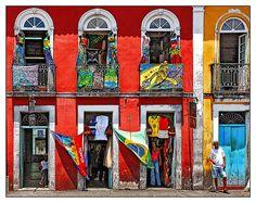 O Pelourinho de Salvador da Bahia, Brasil (The historic center, pelourinho, of the city of Salvador, in Bahia, Brazil)