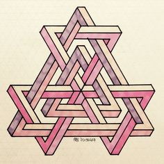 #impossible #isometric #penrosetriangle #Oscar_reutersward #symmetry #geometry…
