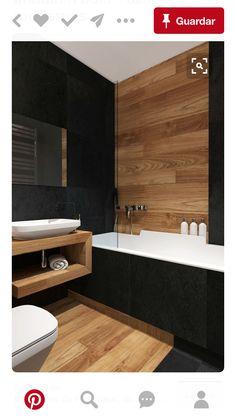 Combinación de color negro con madera