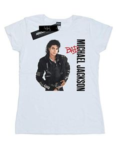 Absolute Cult Michael Jackson Mujer Bad Pose Camiseta  Amazon.es  Ropa y  accesorios f735395e377f