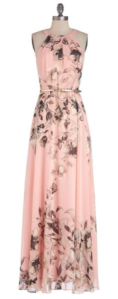 #Pink #floral #maxi                                                       …
