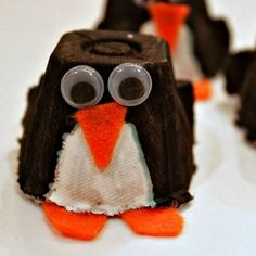 Egg Carton Penguin