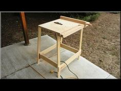 Utility Table Saw. Shop-built using a circular saw as motor and blade. By John Heisz @ ibuildit.ca