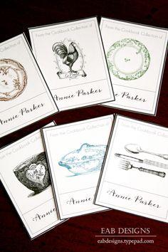Printable Cookbook Book Plates