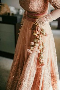 Trending Latkan Designs For Blouse & Lehenga That Are Sure To Glamourize Your Bridal Look! Indian Wedding Outfits, Modest Wedding Dresses, Boho Wedding Dress, Indian Outfits, Boho Dress, Lace Wedding, Backless Wedding, Gown Wedding, Bridal Gown