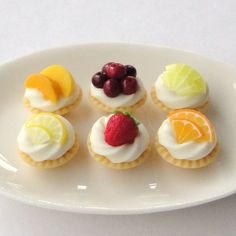 Fresh Fruit Tarts  by Mercia Miniatures