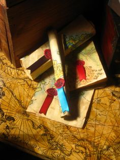 gorgeous invitation or map for treasure hunt game