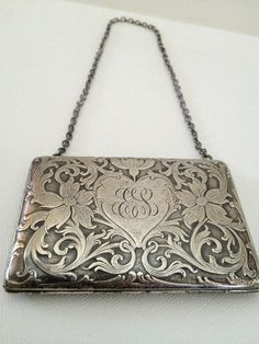 Beautiful Sterling Antique Dance Purse Marked Sterling Patent 7243s | eBay