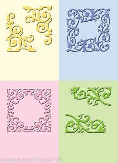 Cuttlebug 2X2.75 Embossing Folders Formal Square 4-Set    37-1251