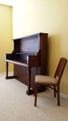 Desk made from repurposed / upcycled antique upright piano.