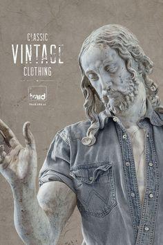 Traid: Classic Vintage Clothing #Vintage #Statue #Advertising