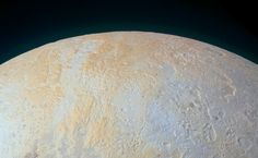 This ethereal scene captured by NASA's New Horizons spacecraft tells yet another story of Pluto's diversity of geological and compositional features—this time in an enhanced color image of the north polar area.