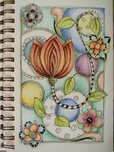 DON'T CLICK on the link...it's been flagged!!!  Still pinning the picture cuz it's cool.  ZenDoodle journal DianaDartist.blogspot.com