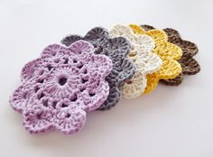Crochet Coasters. Link to pattern on my blog.