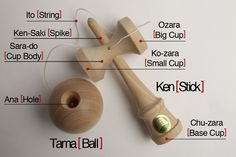 Anatomie du kendama Kendama Toy, Sakura House, Zara, Fun Games, Wood Projects, Miniatures, Anatomy, Toys, Crafts