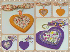 Cuore portachiavi, ciondolo portachiavi a cuore feltro, San Valentino cuore feltro decorazione portachiavi, fatto a mano Keychain Charm, San Valentino borsa accessorio