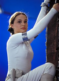 Star Wars Episode II Attack of the Clones behind the scenes Natalie Portman as Senator Padme Amidala