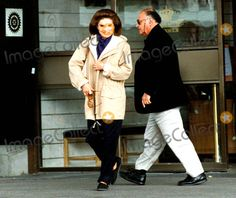 Jacqueline Kennedy Onassis and Maurice Templesman Leaving the Grand Hotel in Stockholm, Sweden 1992