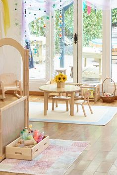 This solid wood table is perfect for early years and reception classrooms. Picture it in the role play corner or the book corner!