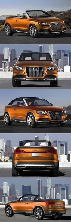 Car Audi Cross Cabriolet quattro concept hints at 2009 Audi Convertible, Orange Cars, Automobile, Fancy Cars, Audi Cars, Car Brands, Transportation Design, Hot Cars, Audi Quattro
