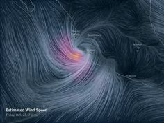 Wind Speed Map of Hurricane Patricia