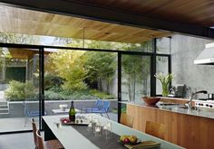 I would not pass on the chance to have a gorgeous, well-lit open kitchen if I have my way.     By Terry & Terry Architects.