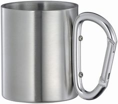 Isolating stainless steel carabiner hook travel mug/cup | eBay