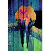 Found it at AllModern - Lovebirds Neon Graphic Art on Canvas