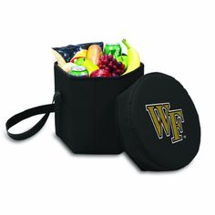 NCAA Wake Forest Demon Deacons Bongo Insulated Collapsible Cooler, Black by Picnic Time. NCAA Wake Forest Demon Deacons Bongo Insulated Collapsible Cooler, Black. Regular.