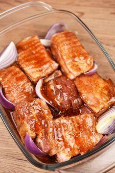 Soczyste żeberka pieczone wpiekarniku 3 Tasty, Yummy Food, Coleslaw, French Toast, Recipies, Food And Drink, Meat, Dinner, Cooking