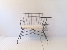 Mid Century Modern Wire Telephone Bench by DaveysVintage on Etsy Retro Furniture, Home Furniture, Chair And Ottoman, Sofa Chair, Gossip Bench, Desks For Small Spaces, Florida Home, Cool Chairs, Furniture Inspiration