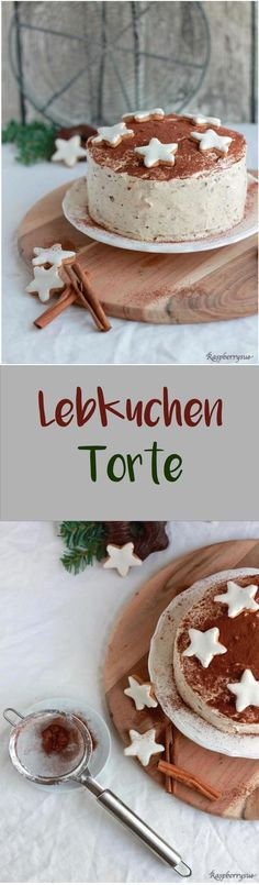 Lebkuchen-Torte für Weihnachten, eine Lieblingstorte in unserer Familie рецепты десертов Food Cakes, Cupcake Cakes, Cupcakes, Sweet Recipes, Cake Recipes, Dessert Recipes, No Bake Cookies, No Bake Cake, Gingerbread Cake